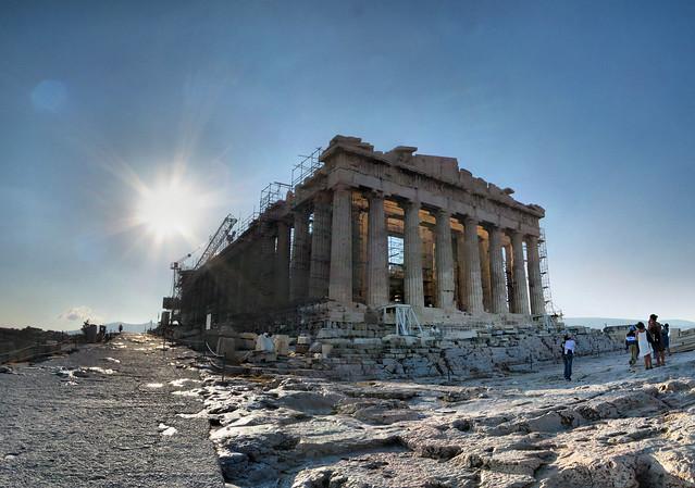 Athènes - Acropole - Parthénon - 11-08-2008 - 8h17