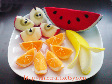 Felt Food Fruits Slices