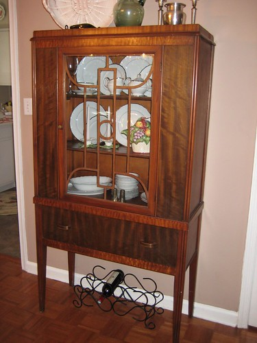 art deco china cabinet