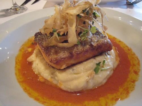 salmon, left bank, mashed parsnips IMG_6738