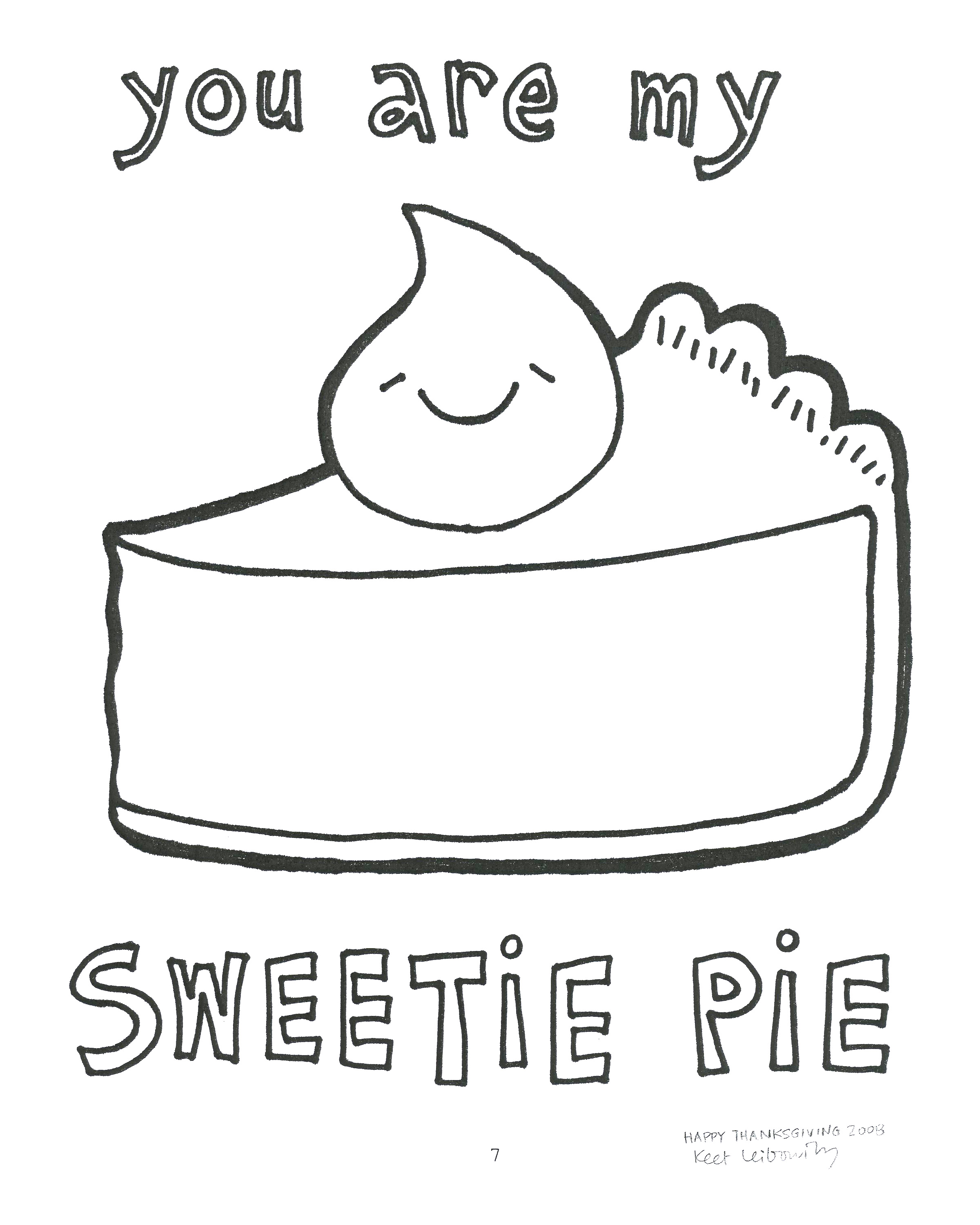 Free Coloring Pages Of Slice Of Pie Pie Coloring Page