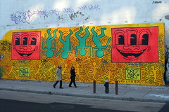 NYC - East Village: Bowery Mural - Tribute to Keith Haring