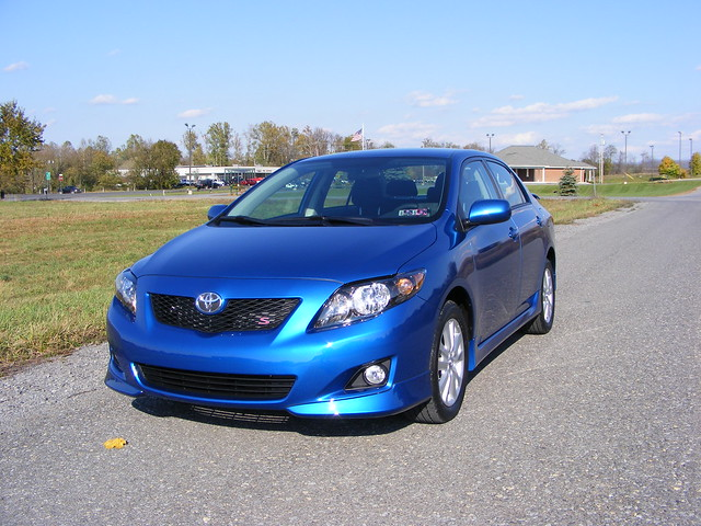 2009 toyota corolla in blue streak flickr photo sharing