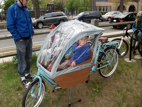 Boxbike with rain fly