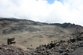Caldera of Mt Kilimanjaro