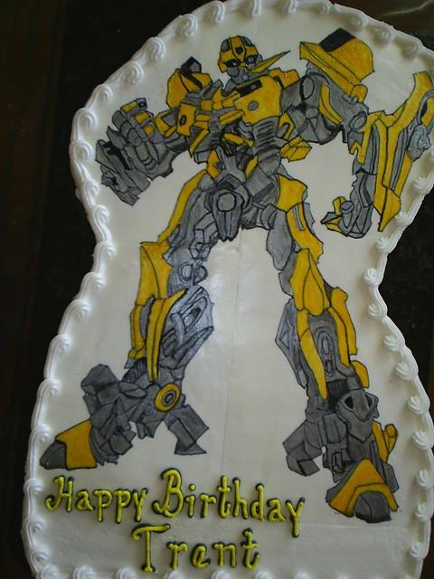 transformers bumblebee cake pan
