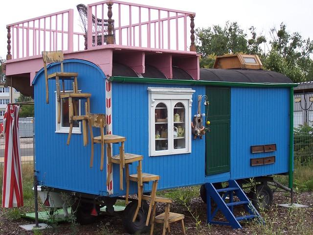 Der Original 'Löwenzahn' Bauwagen von Peter Lustig