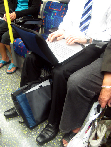 Laptop on the London Underground