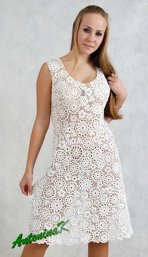 White dress, cotton
