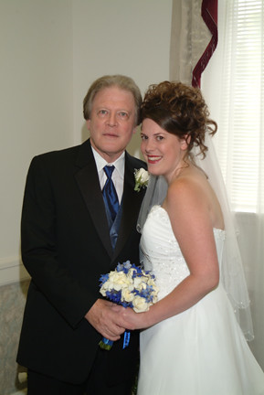 me and dad in bridal room