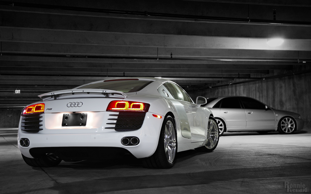 audi r8 blanche. Black Bedroom Furniture Sets. Home Design Ideas