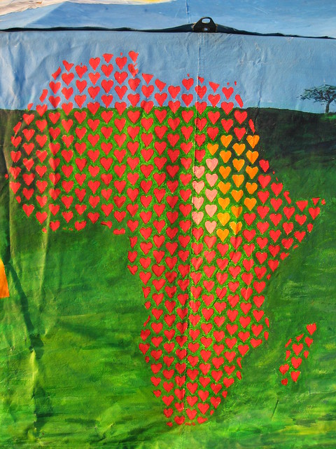 Africa in hearts from Flickr via Wylio