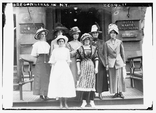 Oregon girls in N. Y.  (LOC)