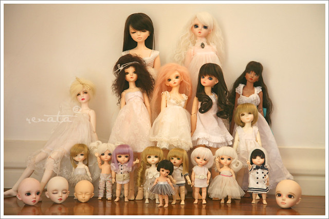 First Resin Family Picture, my BJDs.