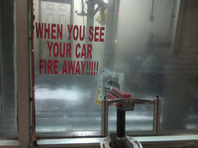 When you see your car fire away!!! [pic]