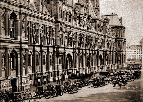Hotel de ville paris 1870 a photo on flickriver for Hotel deville paris