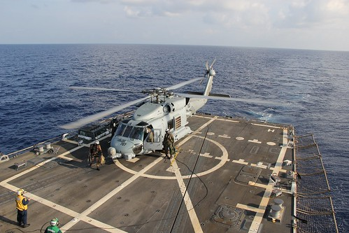 USS Pinckney assists with  Malaysia Airlines flight MH370 recovery efforts.