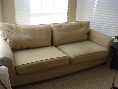 mitchell gold couch from restoration hardware