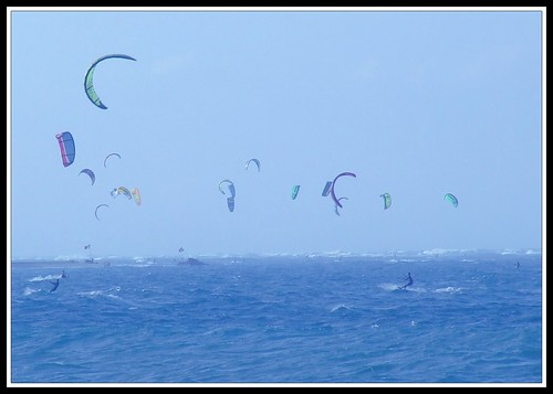 Kite surfing in Cabarete, Dominican by mlcarlier