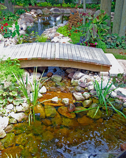 Backyard pond bridge | Flickr - Photo Sharing!