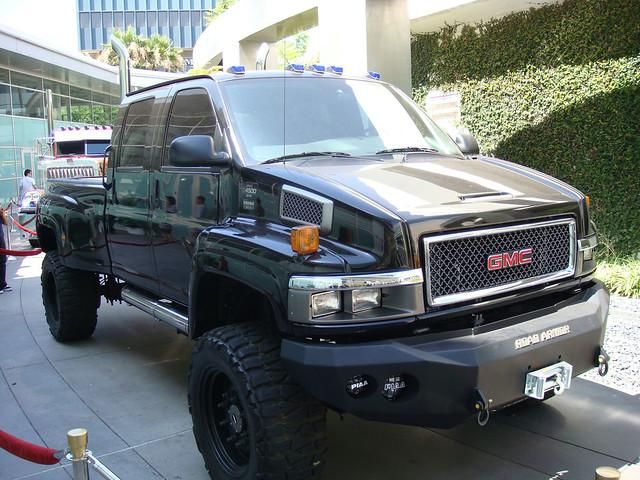 Transformers movie Ironhide Autobot - 2007 GMC Topkick pickup truck at