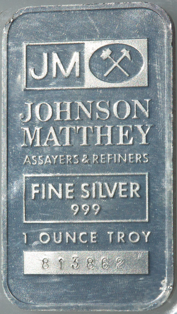 Johnson Mathey Silver Troy Ounce