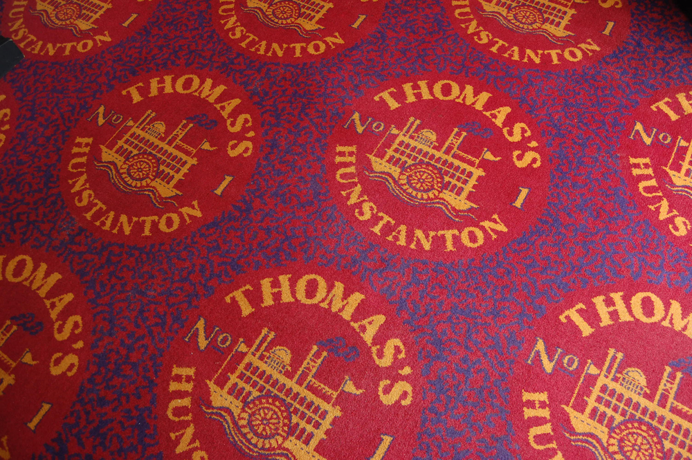 amusement arcade carpet, hunstanton