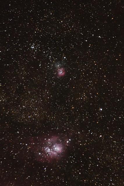 trifid and lagoon nebula - photo #28