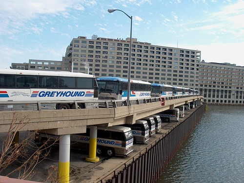 The Greyhound Bus Company's large Chicago maintenance facility. Chicago Illinois. October 2006. by Eddie from Chicago