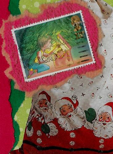 Christmas ATC Traded - Peeking in the Box