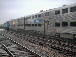 Westbound Metra commuter local. La Grange Illinois. Early April 2007. by Eddie from Chicago