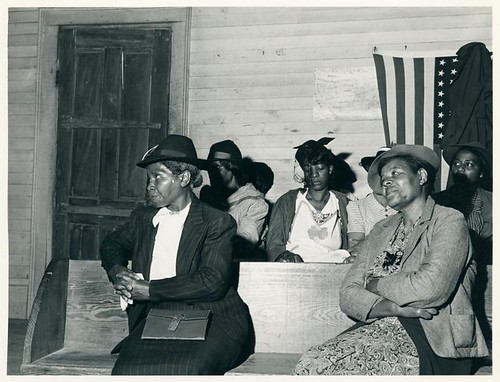 During the church service at a Negro church in Heard County,...