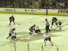Opening face-off