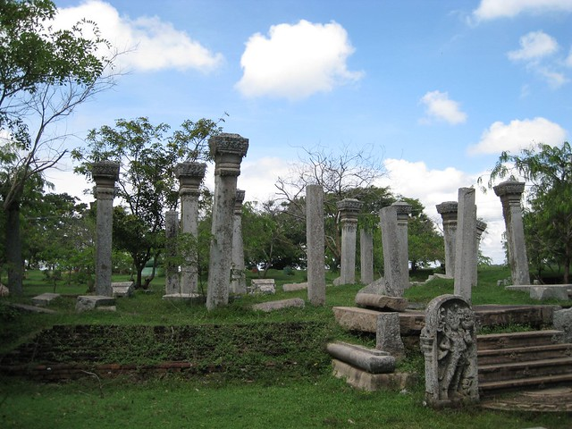 Ancient Stone Pillars : Ancient stone pillars anuradhapura sri lanka