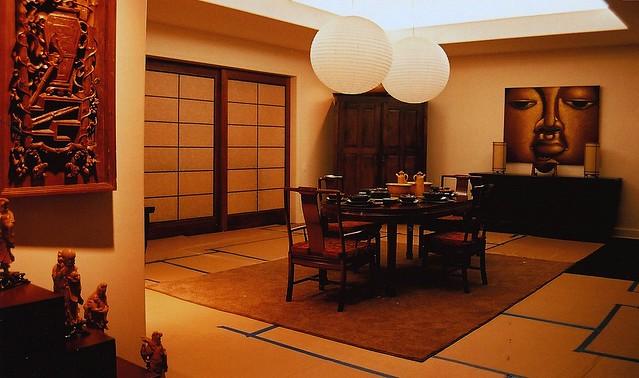 Asian Chinese Korean Dining Room Interior Design Set