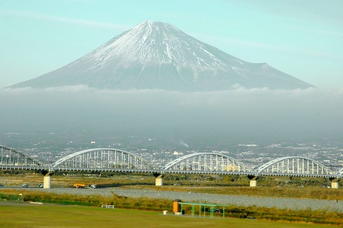 Mt. Fuji floating