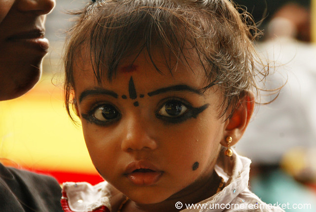 Little Indian Girl with Make-Up - Kerala, India