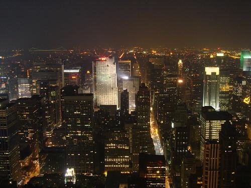 new york night landscape empire