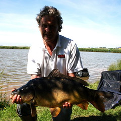 Roger's biggest fish of the match on Moss Lake - a 13lb Mirror.