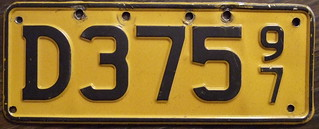 NEW ZEALAND 1997 Motorcycle dealer plate