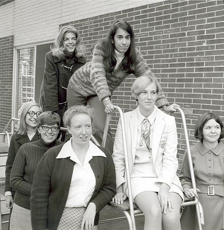 Yearbook Portraits, 1970 (46) - (Standing in rear l. - r.) Flo Donohue and Felicia D'Auria (Foreground l. - r.) Judy Nelson, Kathy Smith, Maureen McGrath, Mary Hoover and Mildred Morganstern