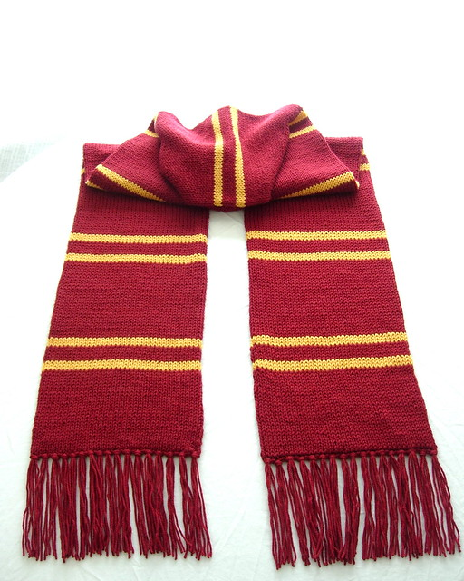 Free Knitting Patterns For Harry Potter Scarves : Gryffindor House Scarf Flickr - Photo Sharing!