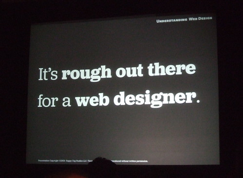 It's rough out there for a web designer.