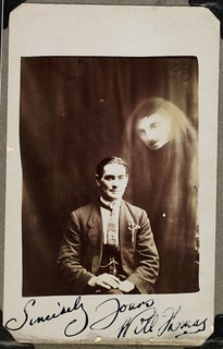 Will Thomas with an unidentified spirit