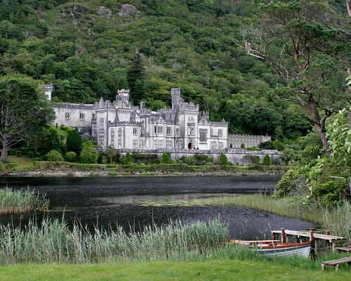ireland castle church abbey landscape ruins kylemoreabbey