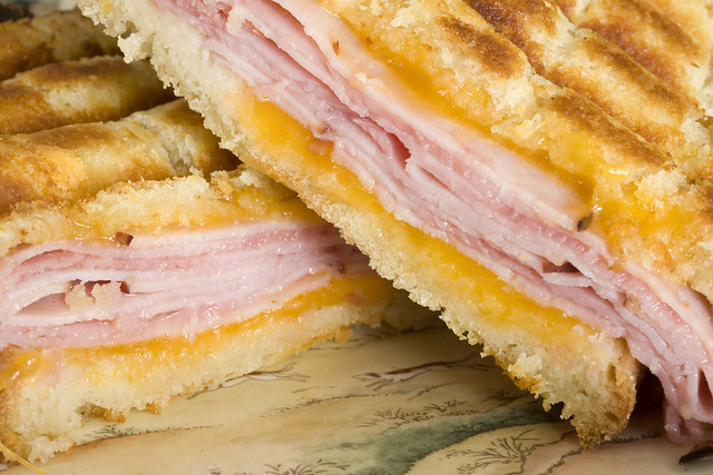 Ham and Cheese Panini With Roasted Red Onion Mayo | Flickr - Photo ...