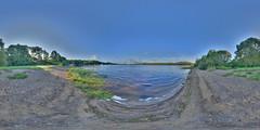 LochInsh: Beach Loch Insh Scotland Equirectangular