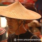 Hani Man in Wide-Brimmed Hat - Yuanyang, China