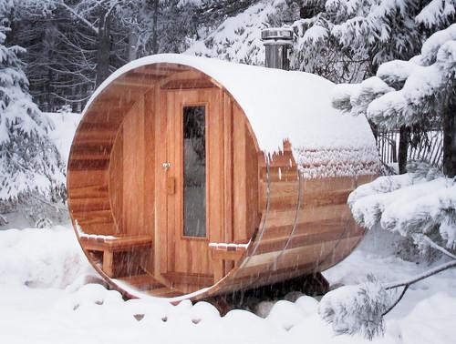 Barrel saunas saunatrend for Build your own barrel sauna