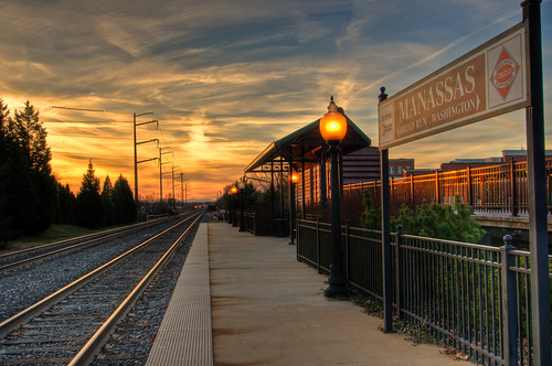 sunset slr clouds train virginia nikon wide wideangle tokina1224 tokina trainstation rails hdr pavillion d300 princewilliamcounty ultimateshot flickraward manassasnikon